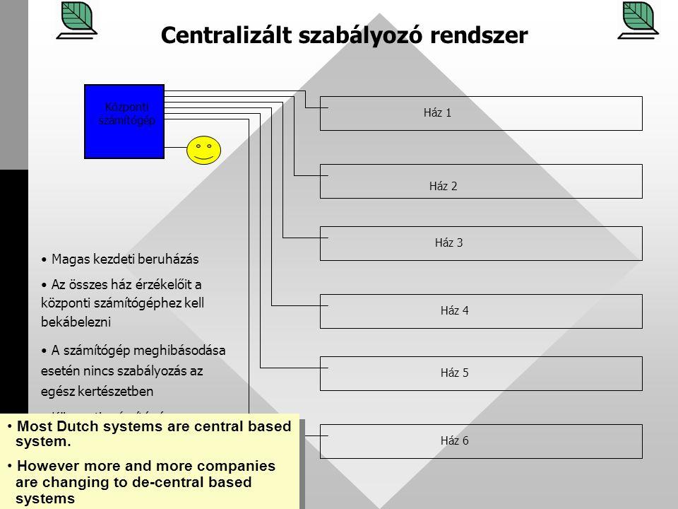 Centralizált szabályozó rendszer