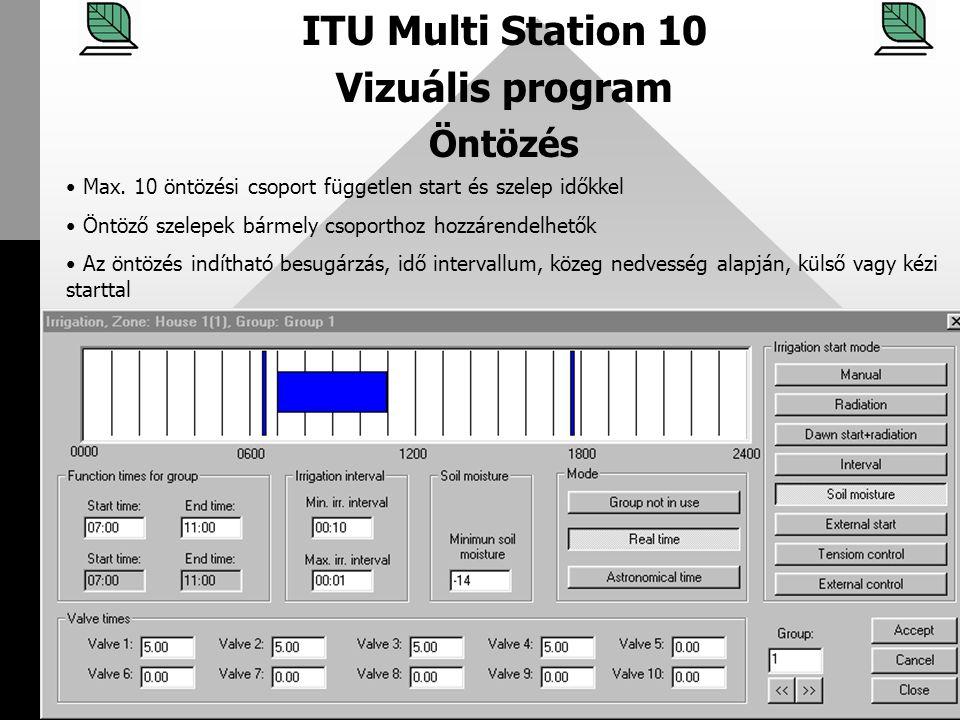 ITU Multi Station 10 Vizuális program Öntözés