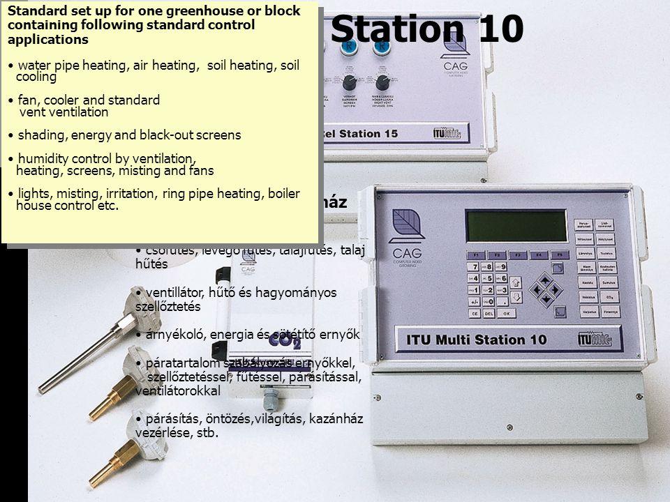 ITU Multi Station 10 Szabályozza a növényház klímáját pl.: