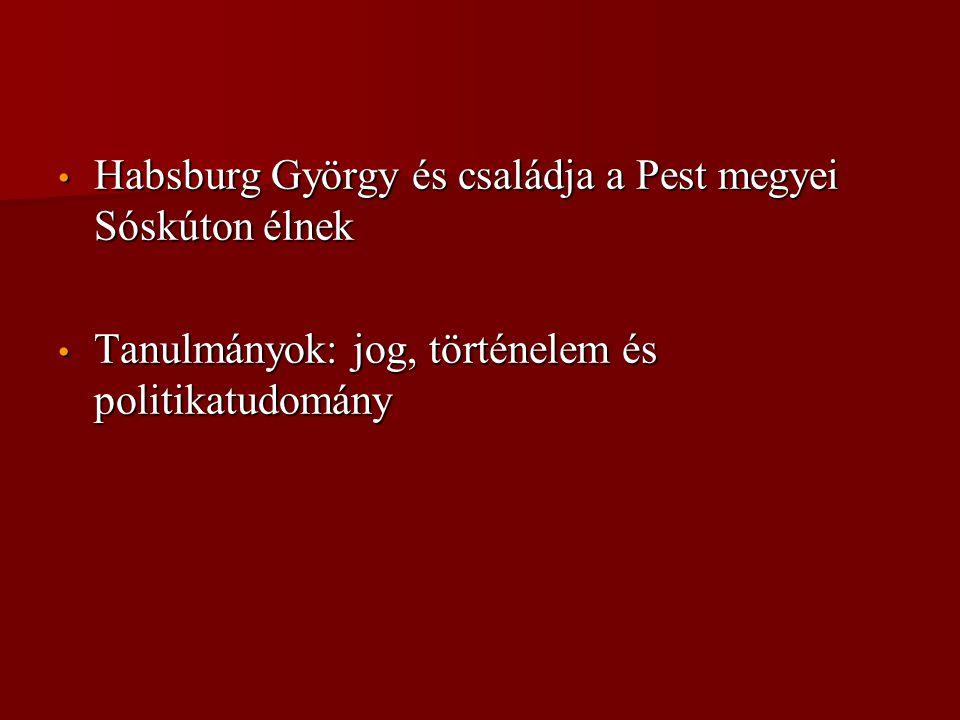 Habsburg György és családja a Pest megyei Sóskúton élnek