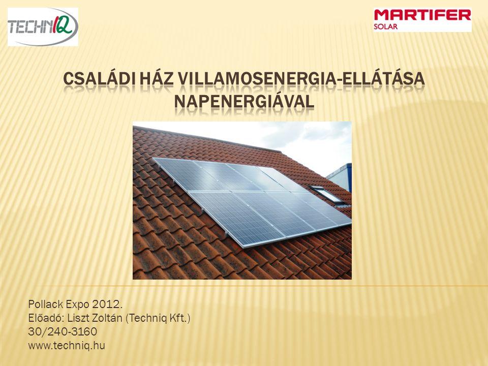 Családi ház villamosenergia-ellátása napenergiával