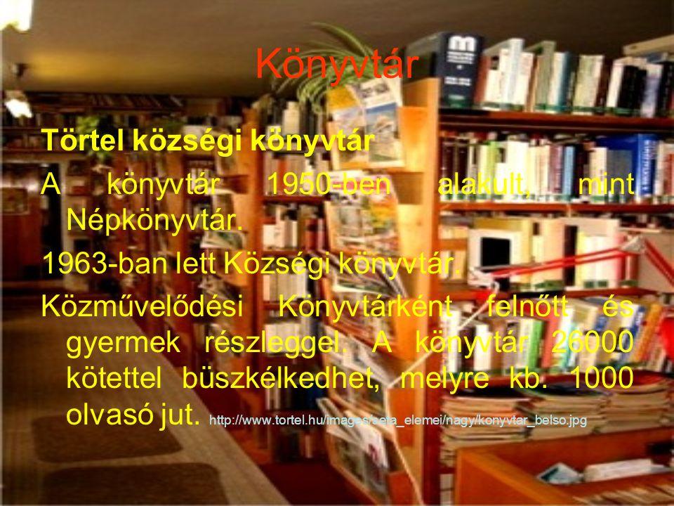 Könyvtár Törtel községi könyvtár