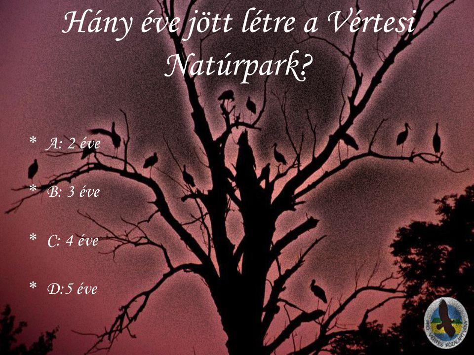 Hány éve jött létre a Vértesi Natúrpark
