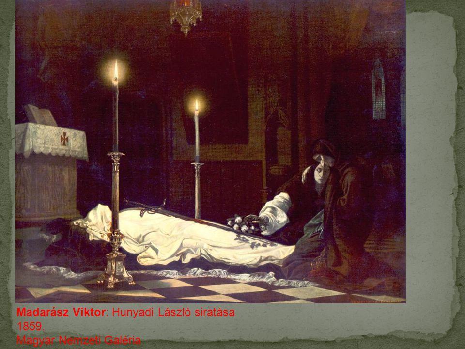 Madarász Viktor: Hunyadi László siratása 1859.