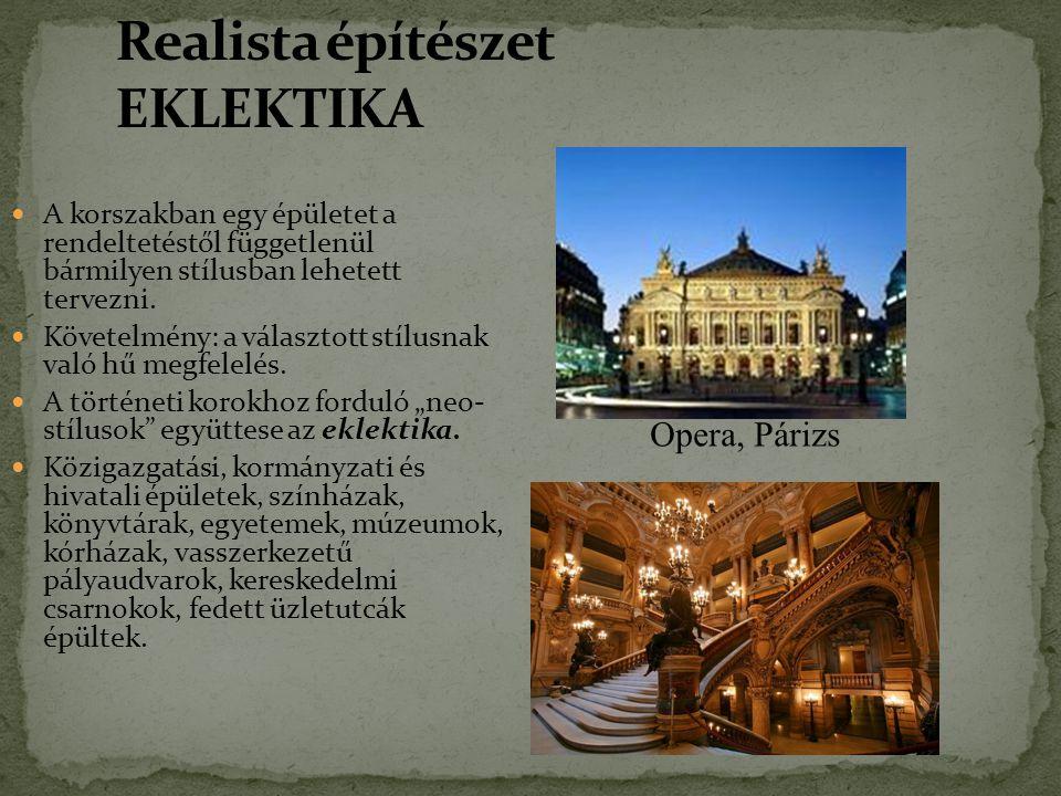 Realista építészet EKLEKTIKA