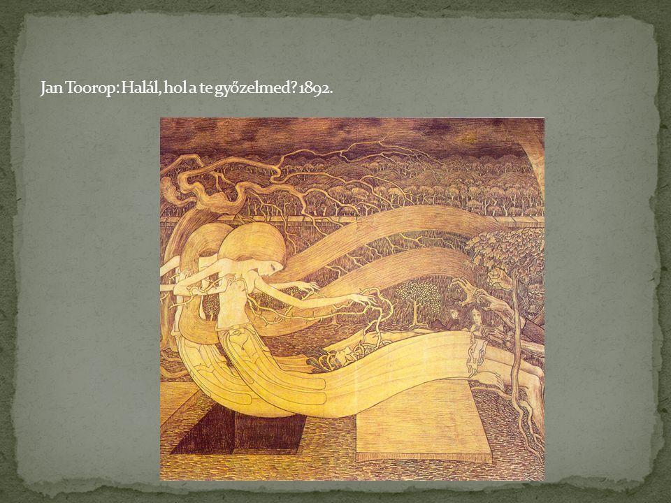 Jan Toorop: Halál, hol a te győzelmed 1892.