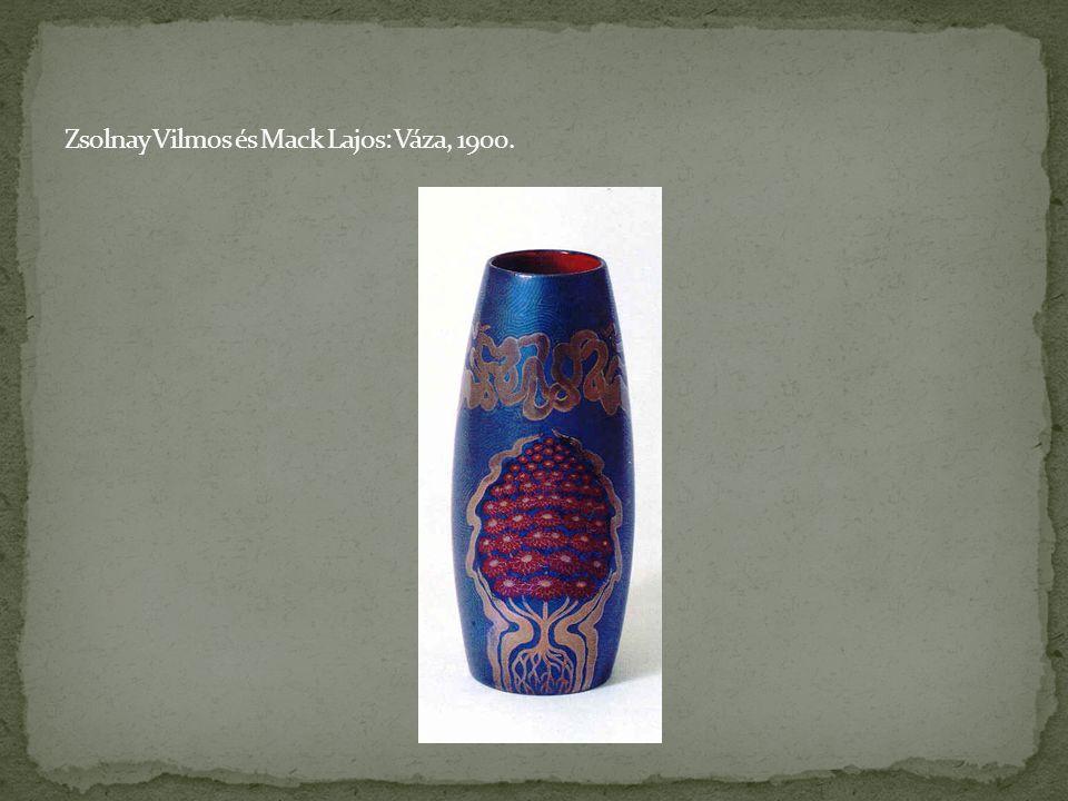 Zsolnay Vilmos és Mack Lajos: Váza, 1900.
