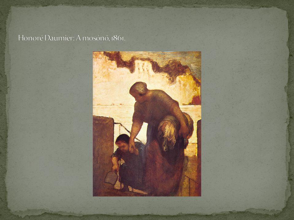 Honoré Daumier: A mosónő, 1861.