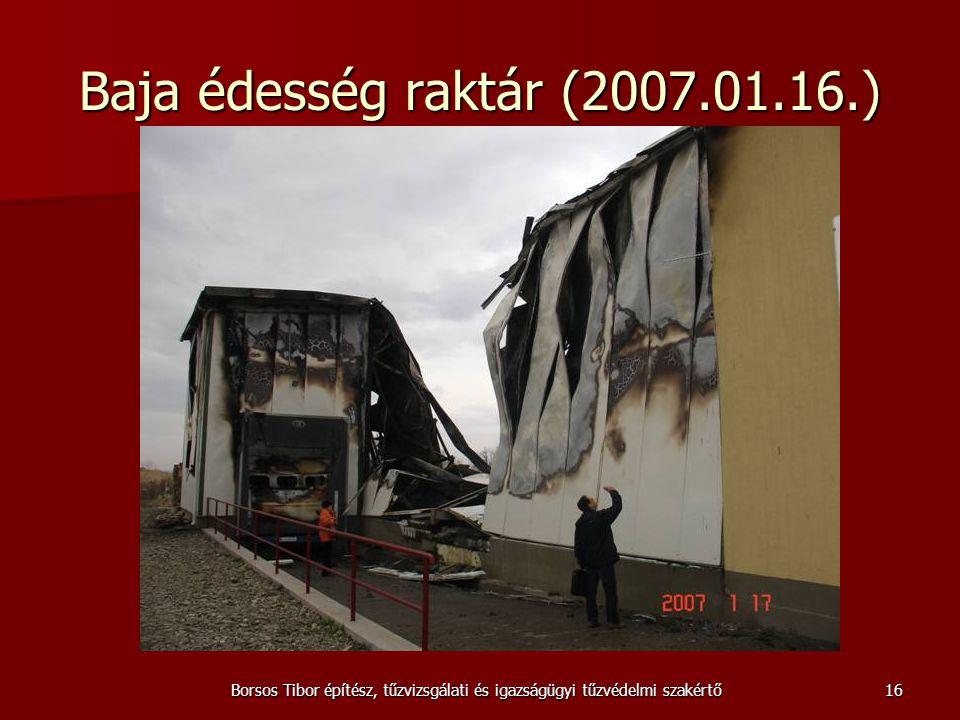 Borsos Tibor építész, tűzvizsgálati és igazságügyi tűzvédelmi szakértő