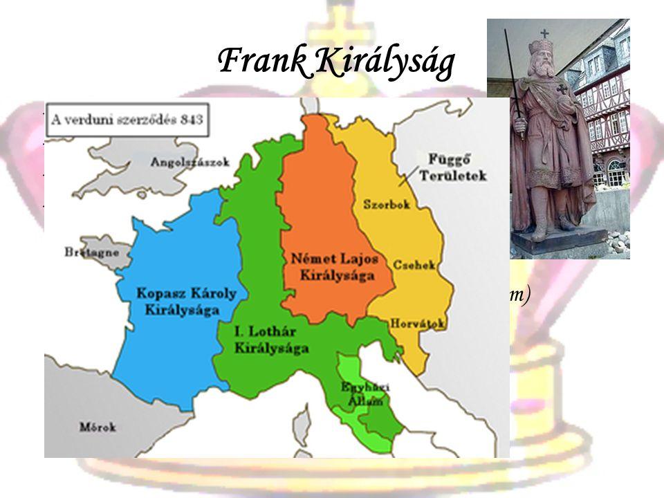 Frank Királyság Klodvig (497) és utódai a Merovingok