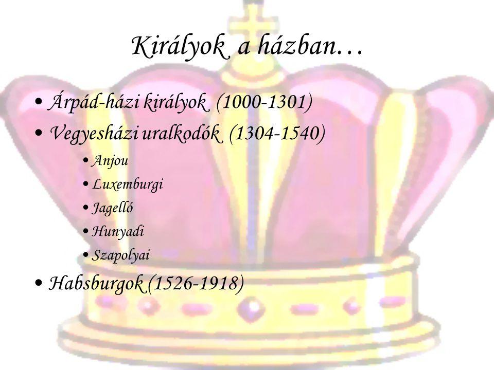 Királyok a házban… Árpád-házi királyok (1000-1301)