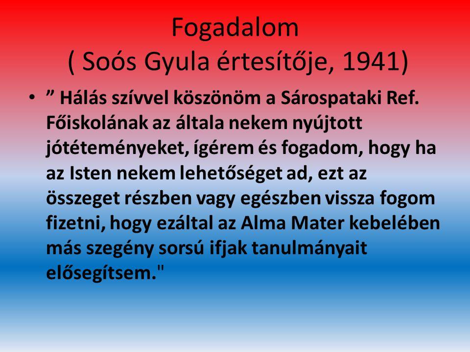 Fogadalom ( Soós Gyula értesítője, 1941)