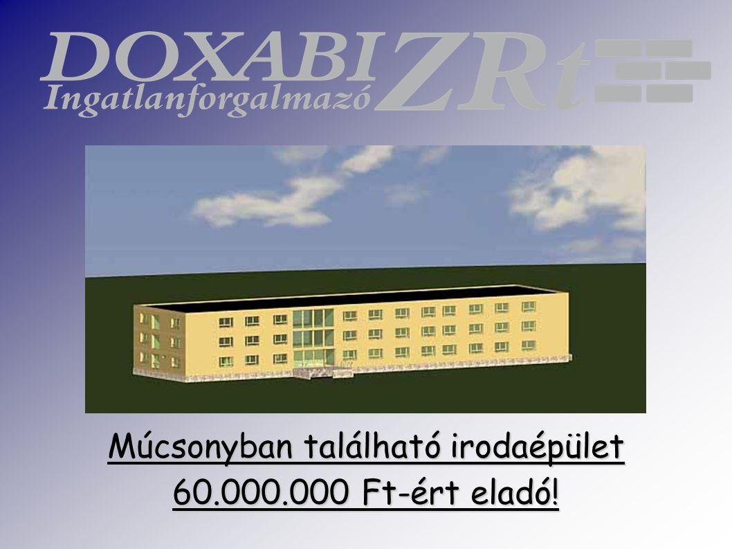Múcsonyban található irodaépület 60.000.000 Ft-ért eladó!