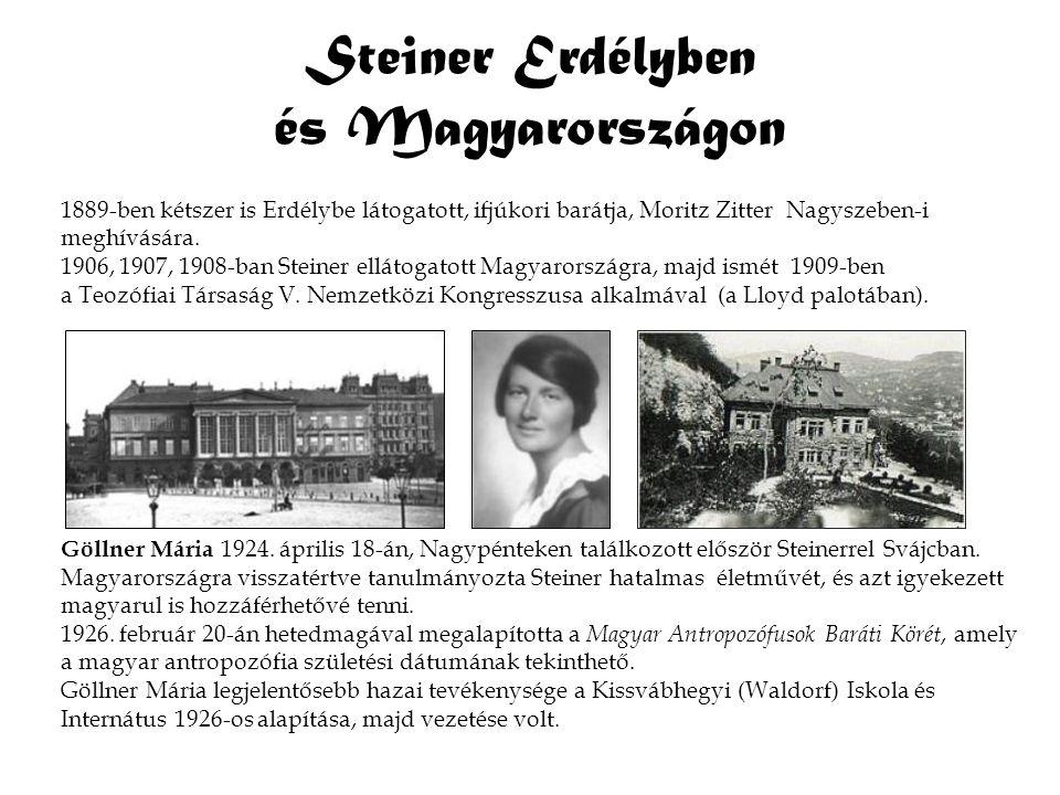 Steiner Erdélyben és Magyarországon