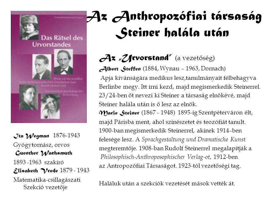 Az Anthropozófiai társaság Steiner halála után