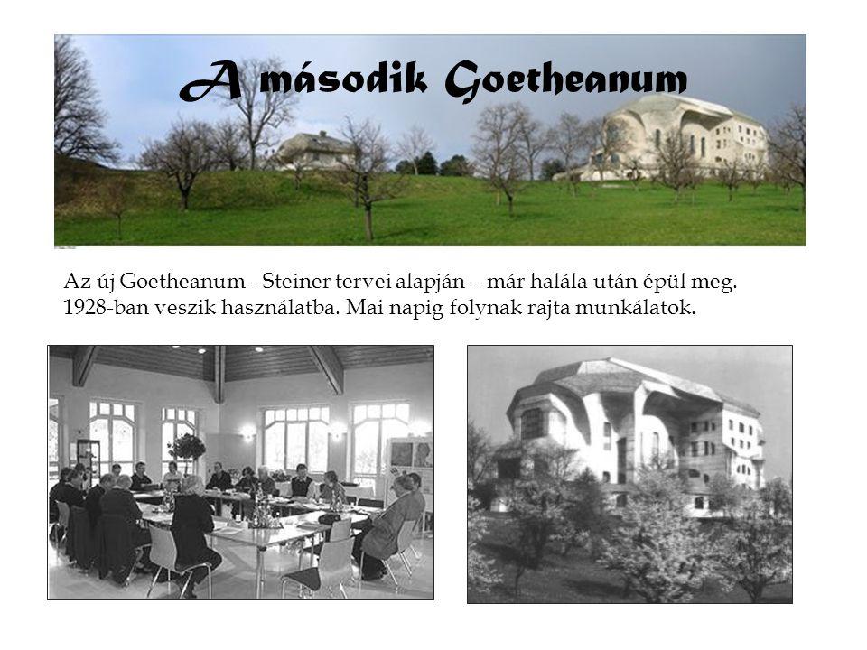 A második Goetheanum Az új Goetheanum - Steiner tervei alapján – már halála után épül meg.