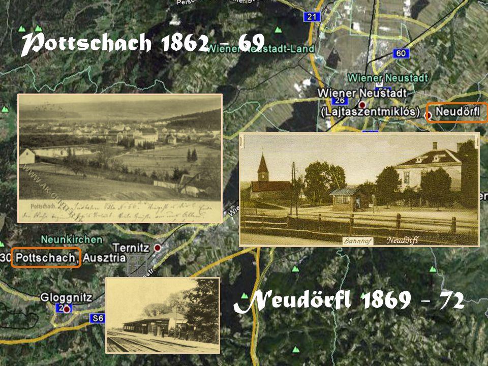 Pottschach 1862 - 69 Neudötfl Neudörfl 1869 - 72