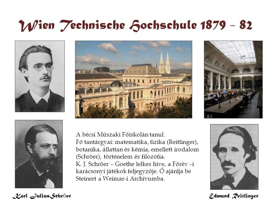Wien Technische Hochschule 1879 - 82