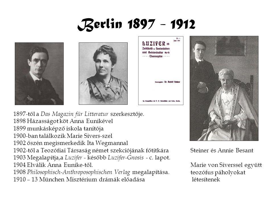 Berlin 1897 - 1912 1897-től a Das Magazin für Litteratur szerkesztője.