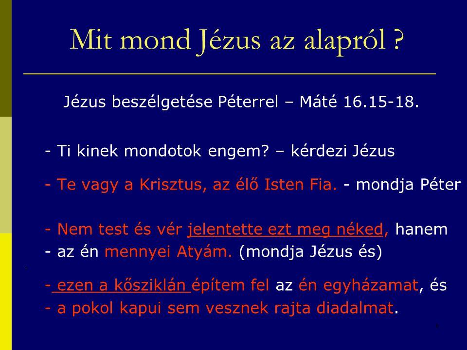 Mit mond Jézus az alapról