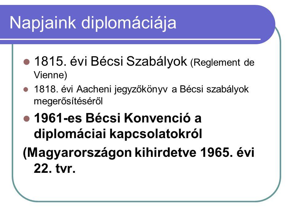 Napjaink diplomáciája