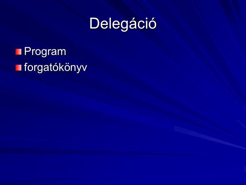 Delegáció Program forgatókönyv