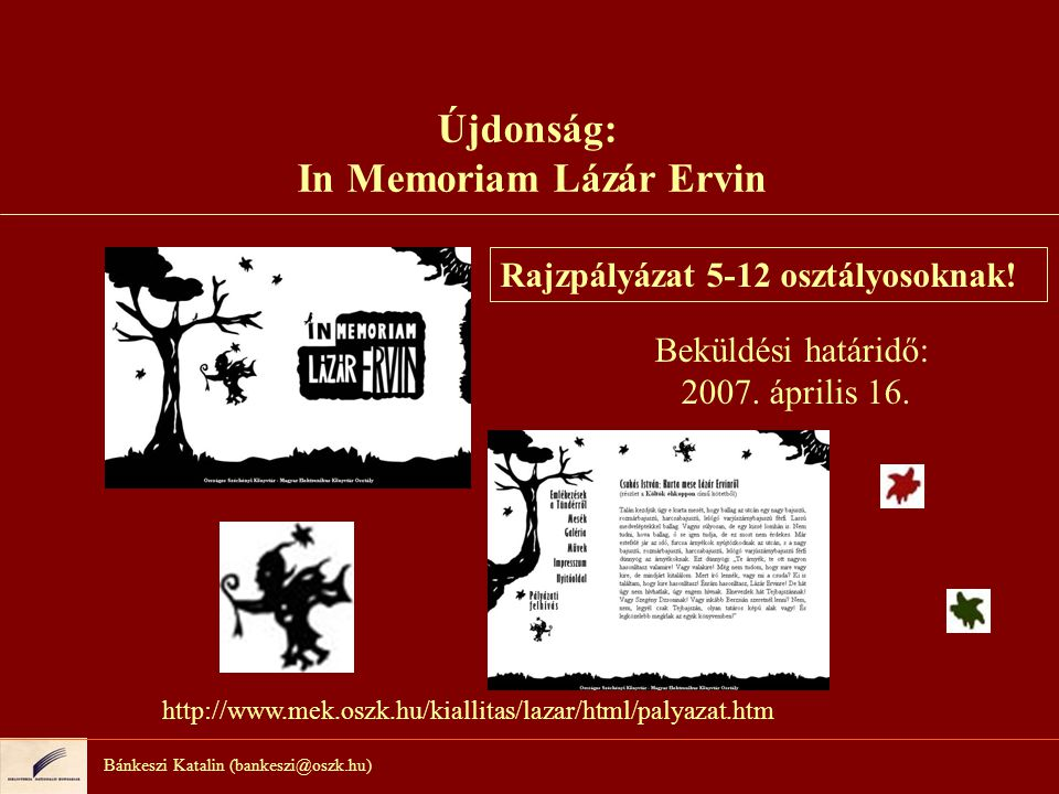 Újdonság: In Memoriam Lázár Ervin