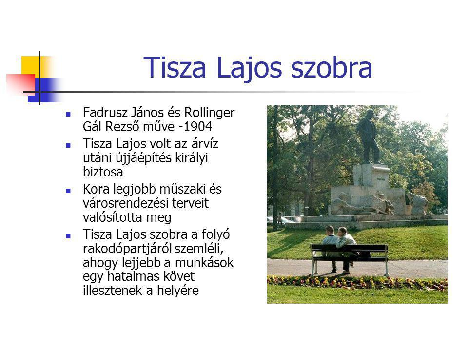 Tisza Lajos szobra Fadrusz János és Rollinger Gál Rezső műve -1904