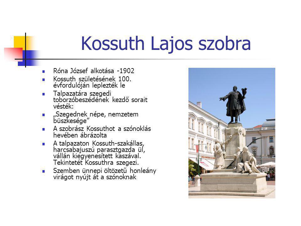 Kossuth Lajos szobra Róna József alkotása -1902