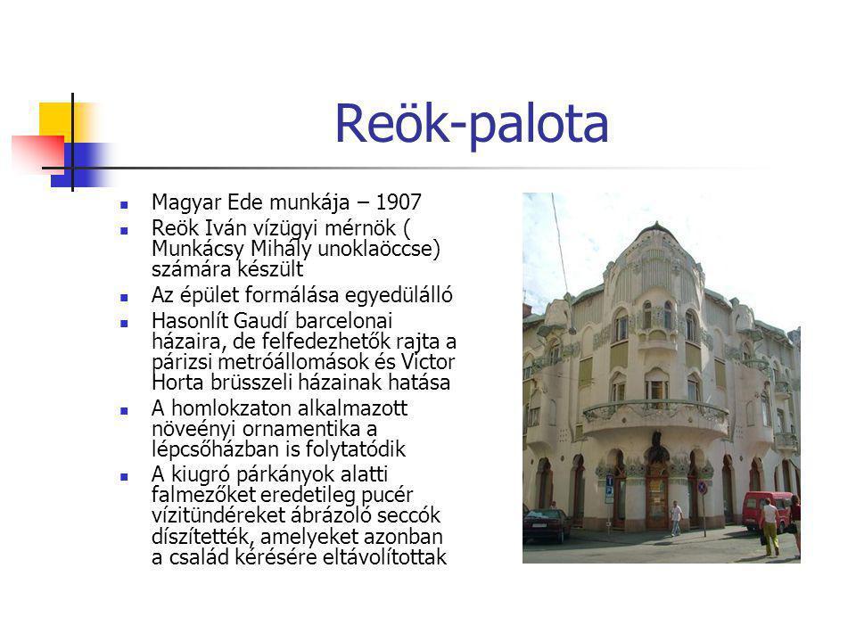Reök-palota Magyar Ede munkája – 1907