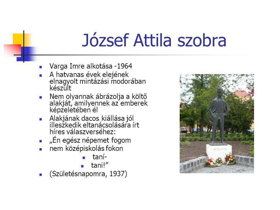 József Attila szobra Varga Imre alkotása -1964