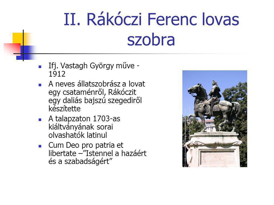 II. Rákóczi Ferenc lovas szobra