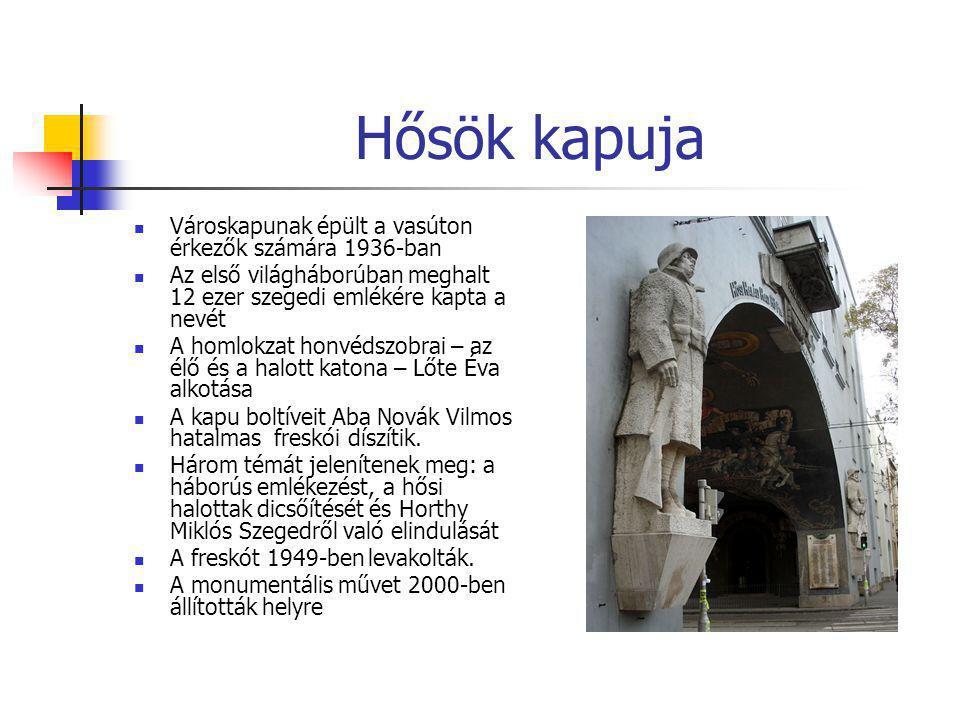 Hősök kapuja Városkapunak épült a vasúton érkezők számára 1936-ban