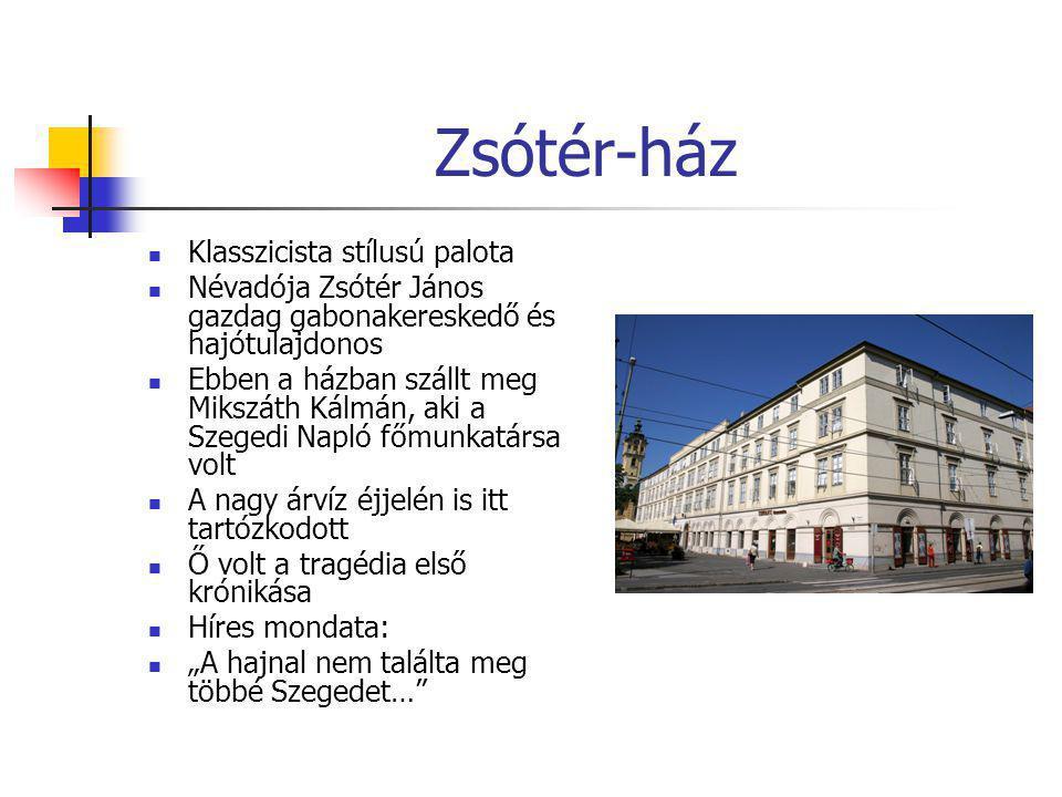 Zsótér-ház Klasszicista stílusú palota
