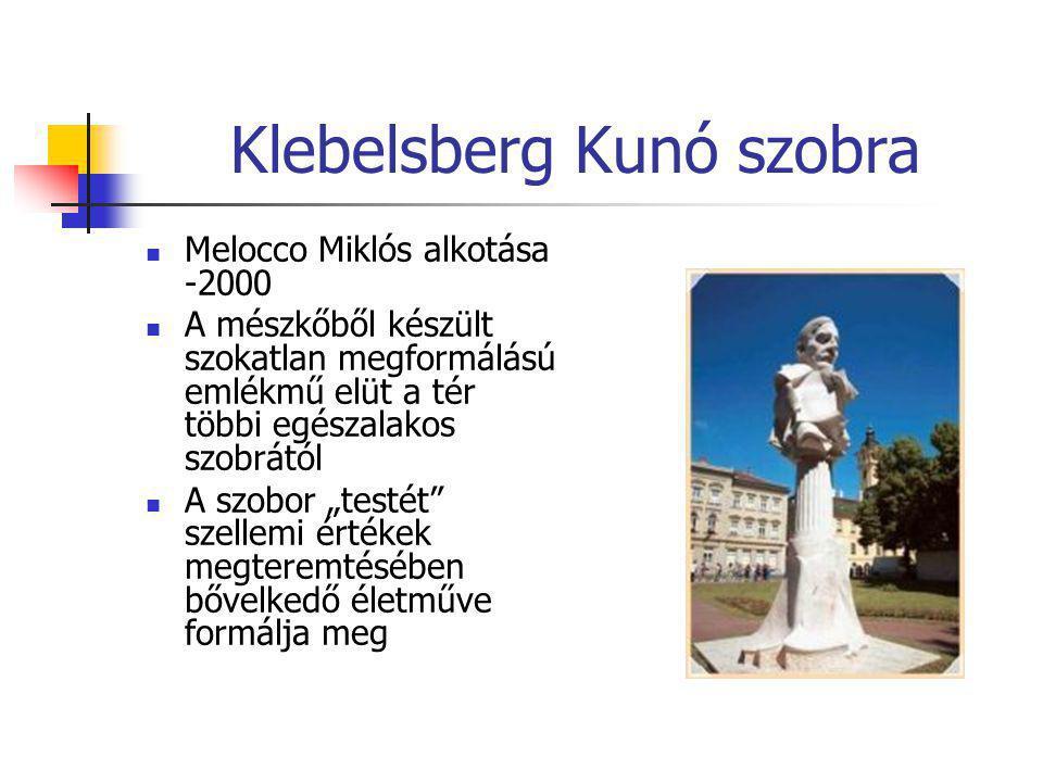 Klebelsberg Kunó szobra