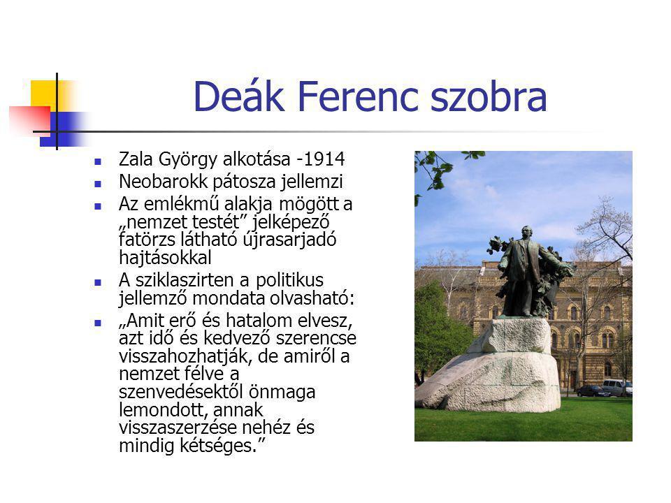 Deák Ferenc szobra Zala György alkotása -1914