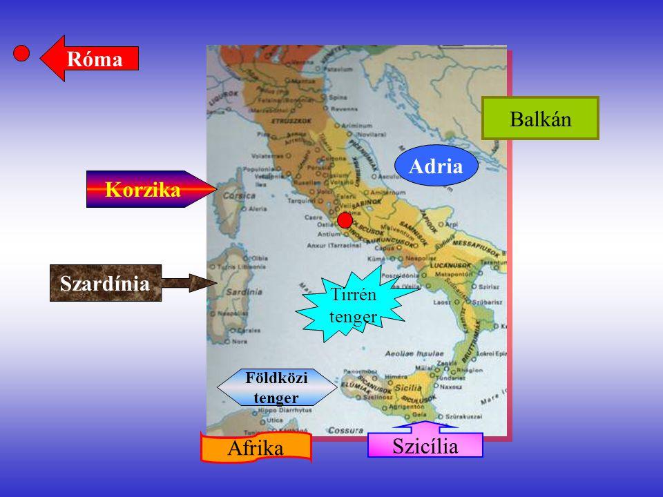 Róma Adria Korzika Szardínia