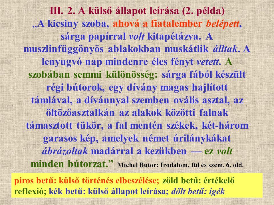 III. 2. A külső állapot leírása (2