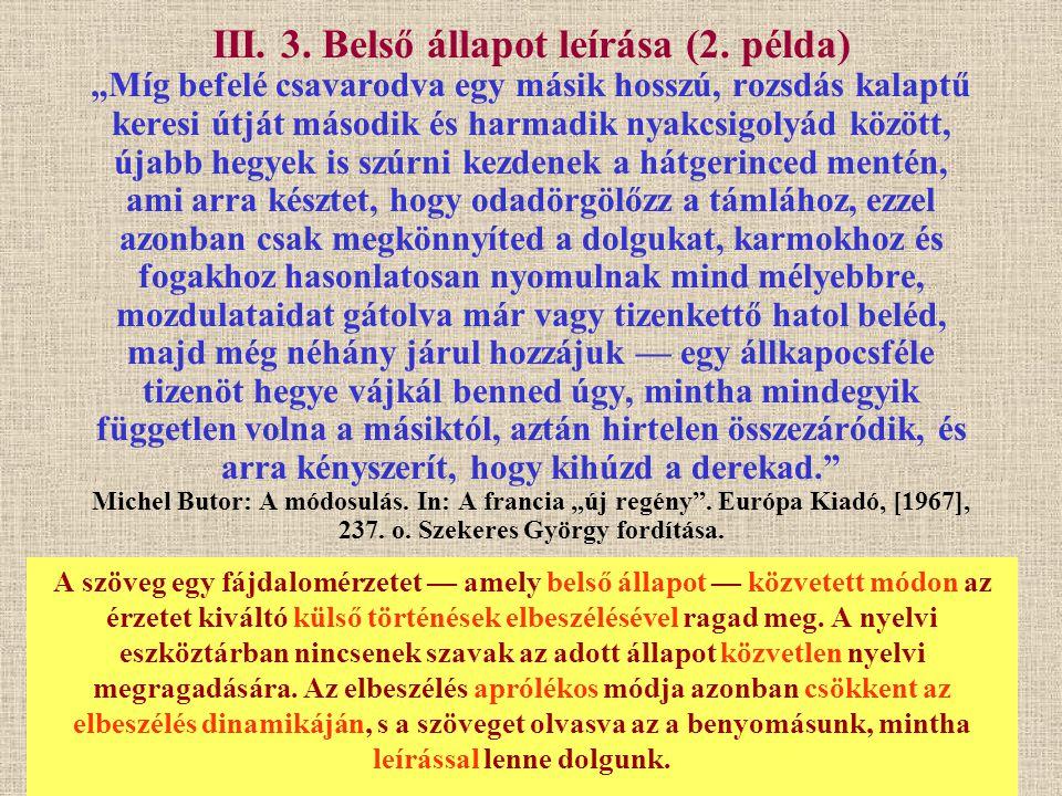 III. 3. Belső állapot leírása (2