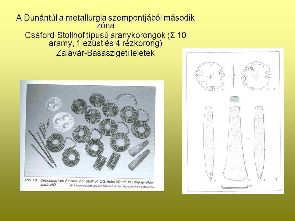 A Dunántúl a metallurgia szempontjából második zóna