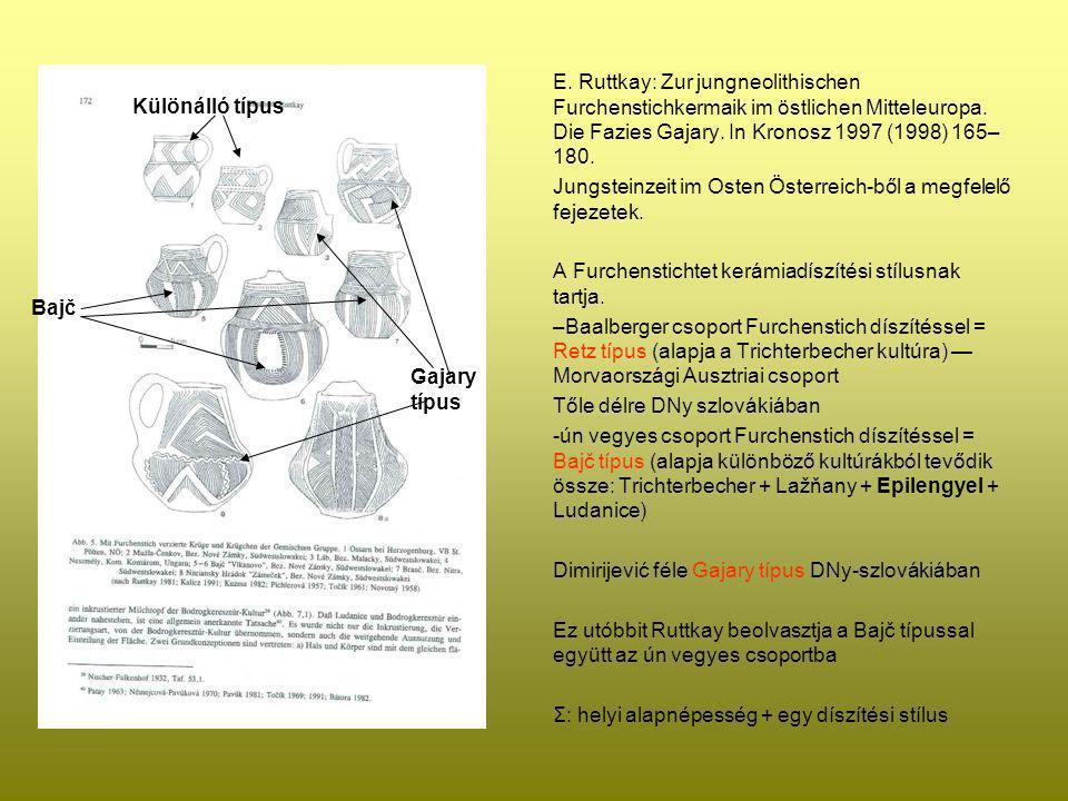 E. Ruttkay: Zur jungneolithischen Furchenstichkermaik im östlichen Mitteleuropa. Die Fazies Gajary. In Kronosz 1997 (1998) 165–180.