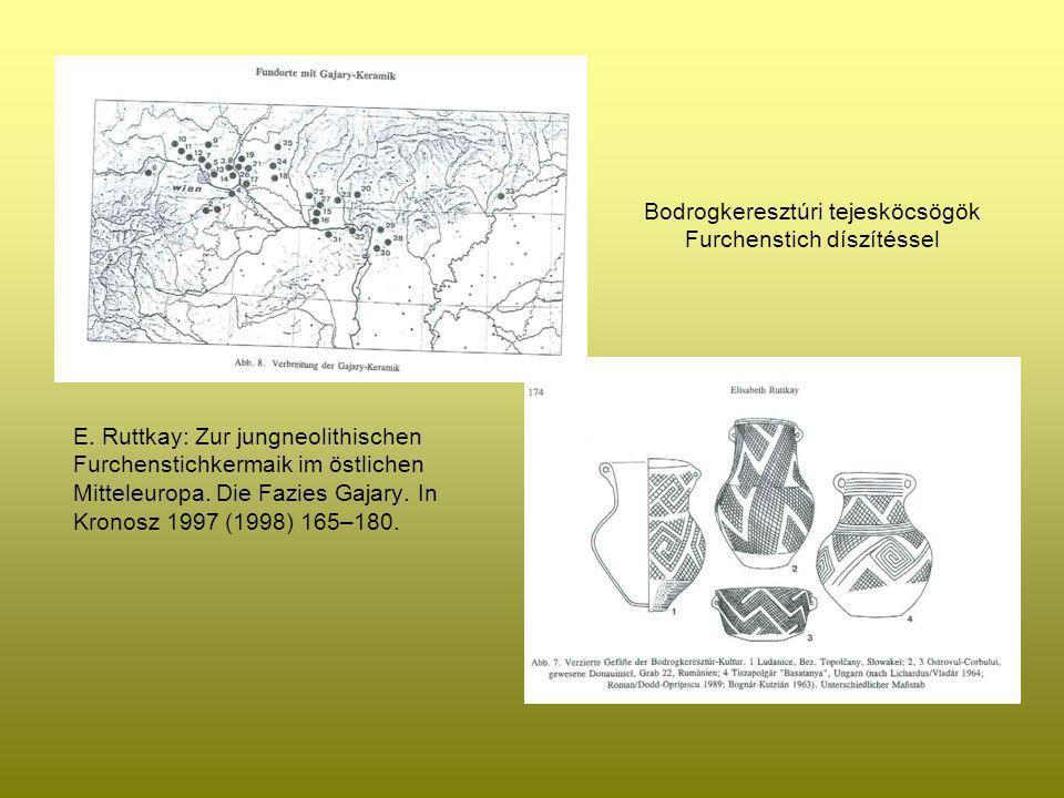 Bodrogkeresztúri tejesköcsögök Furchenstich díszítéssel