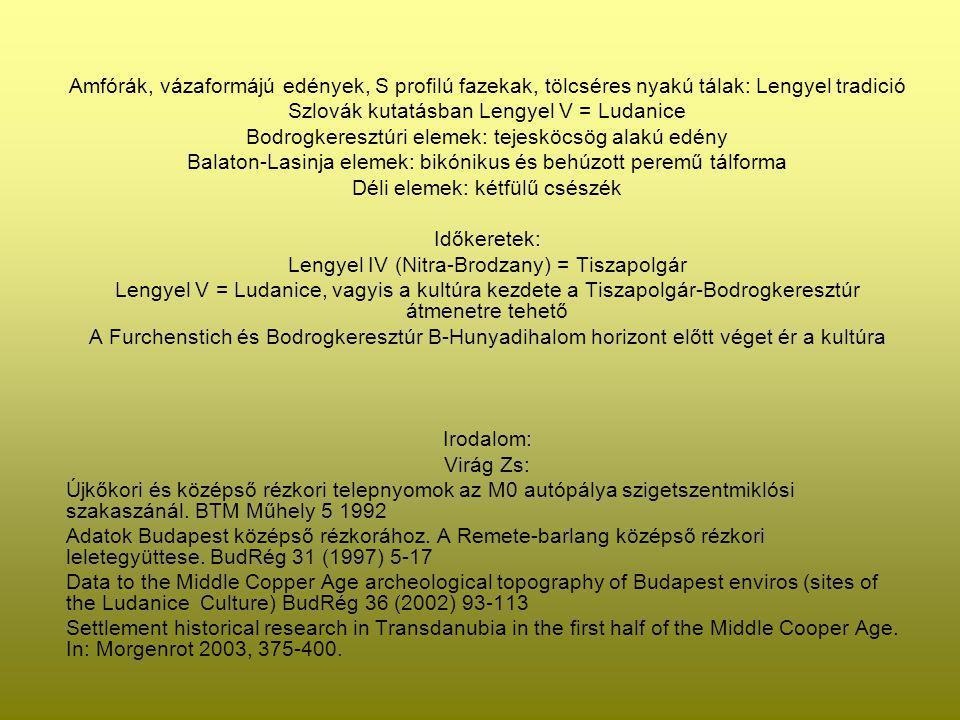 Szlovák kutatásban Lengyel V = Ludanice