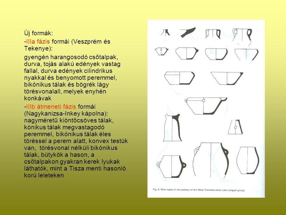 Új formák: -IIIa fázis formái (Veszprém és Tekenye):