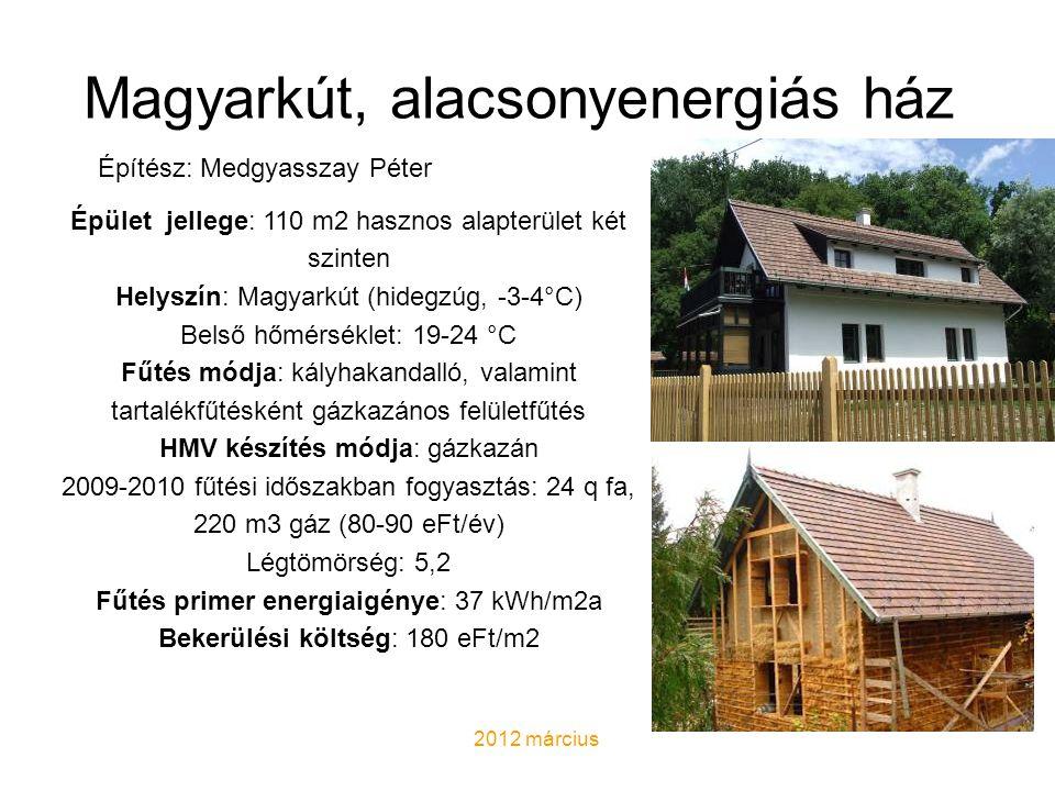 Magyarkút, alacsonyenergiás ház