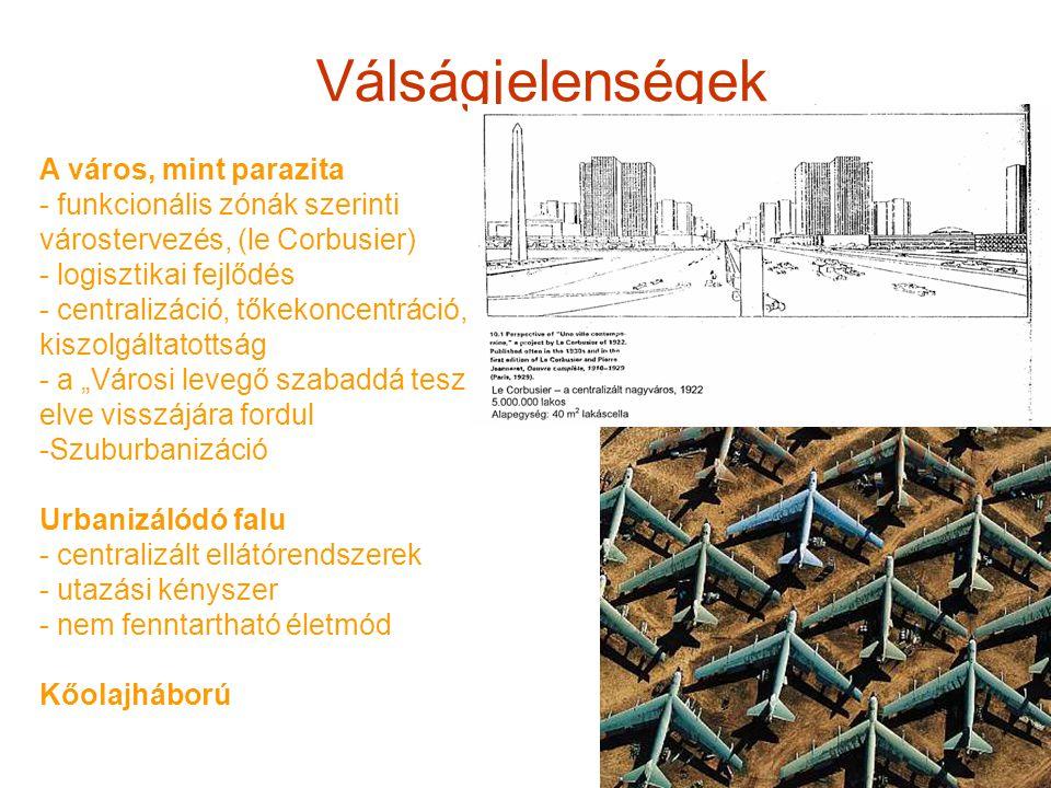 Válságjelenségek A város, mint parazita