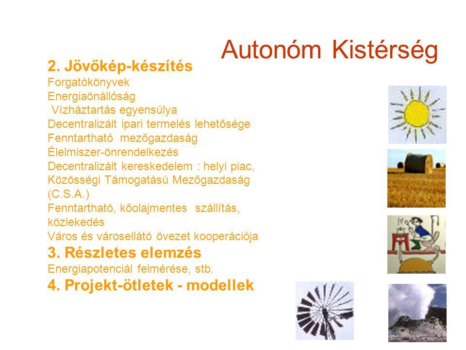 Autonóm Kistérség 2. Jövőkép-készítés Forgatókönyvek Energiaönállóság