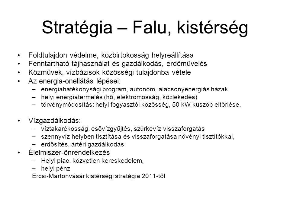 Stratégia – Falu, kistérség