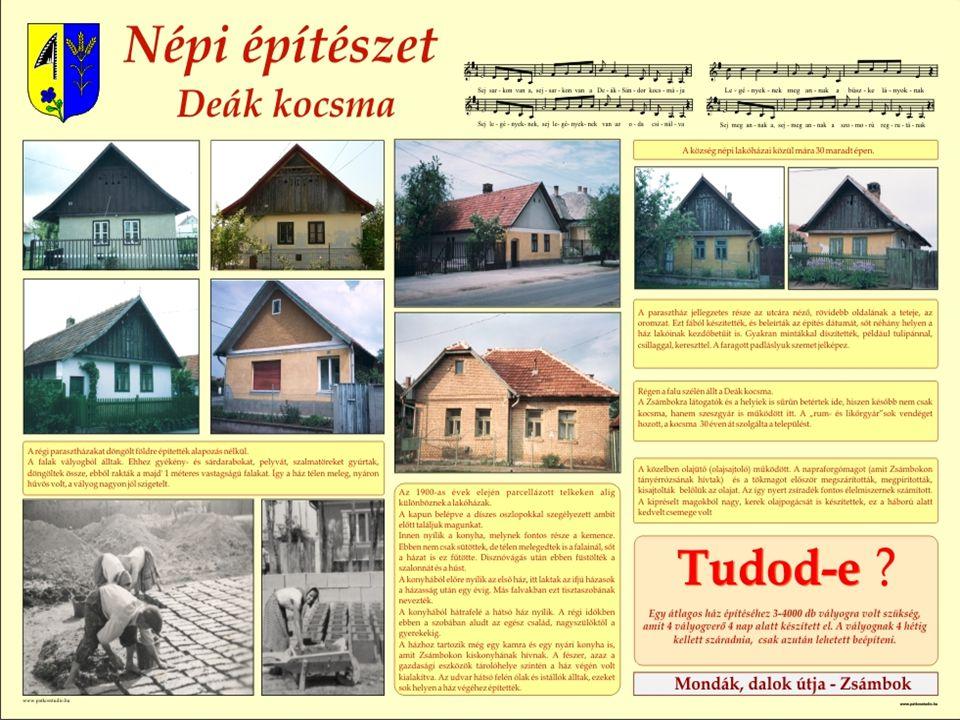 A népi építészet jellemző a településre
