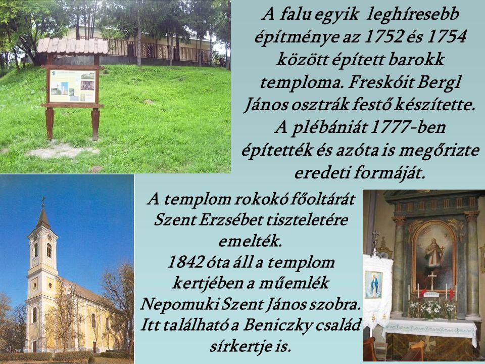 A falu egyik leghíresebb építménye az 1752 és 1754 között épített barokk temploma. Freskóit Bergl János osztrák festő készítette. A plébániát 1777-ben építették és azóta is megőrizte eredeti formáját.